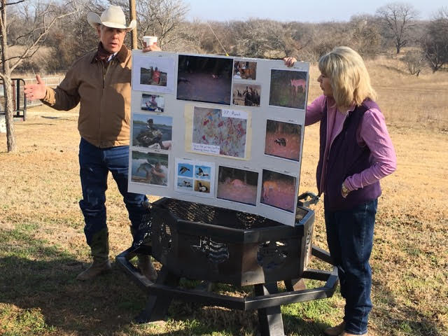 Gary & Sue Price presenting at their ranch